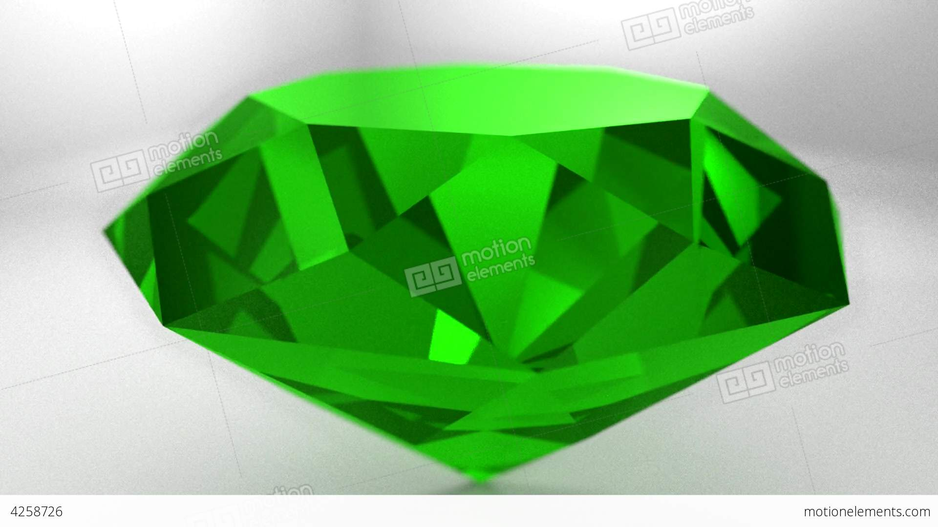 video spinning gemstone animation emerald green stock stone hd gem wedding