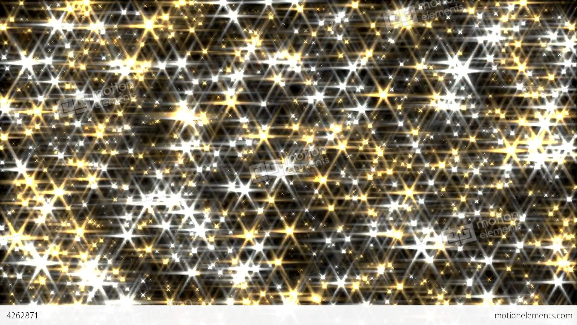 Glitter Background Loop Gold And Silver Lens Flare Stock ...