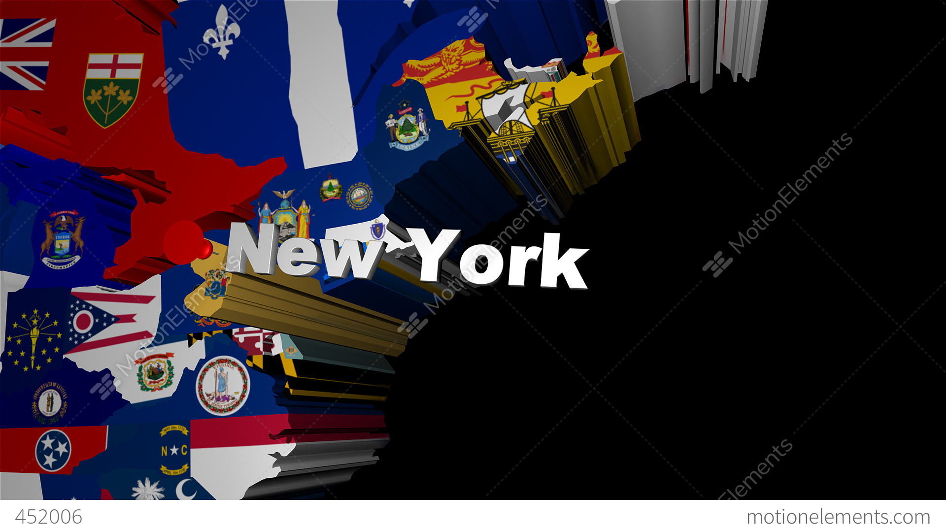 3d usa map zoom into new york stock animation 452006 3d usa map zoom into new york stock video footage publicscrutiny Choice Image