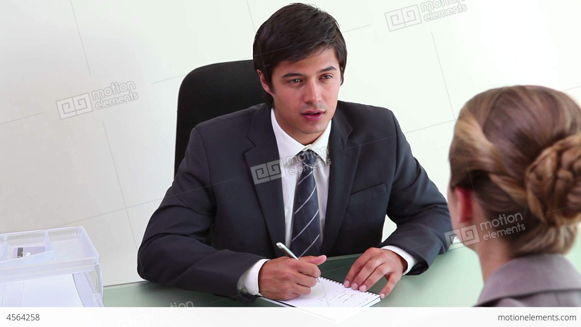 a job interview between two people stock video footage royalty a job interview between two people stock video footage