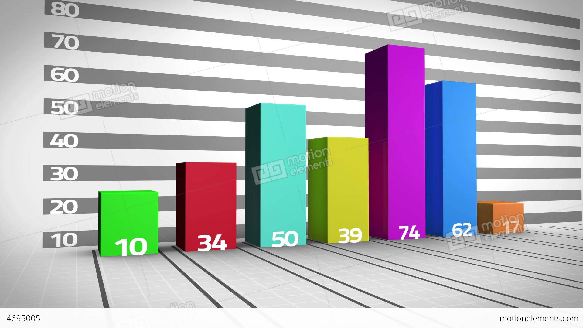 Colourful bar chart growing stock animation 4695005 colourful bar chart growing stock video footage ccuart Images