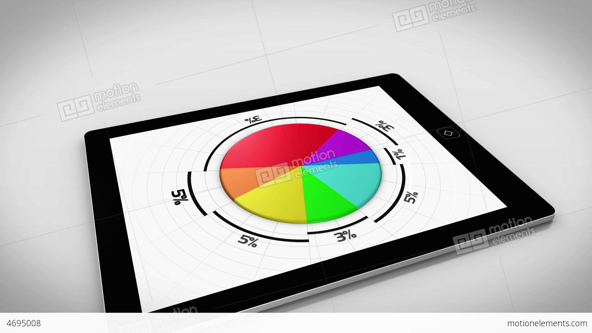 Colourful 3d pie chart on tablet pc stock animation 4695008 colourful 3d pie chart on tablet pc stock video footage nvjuhfo Choice Image