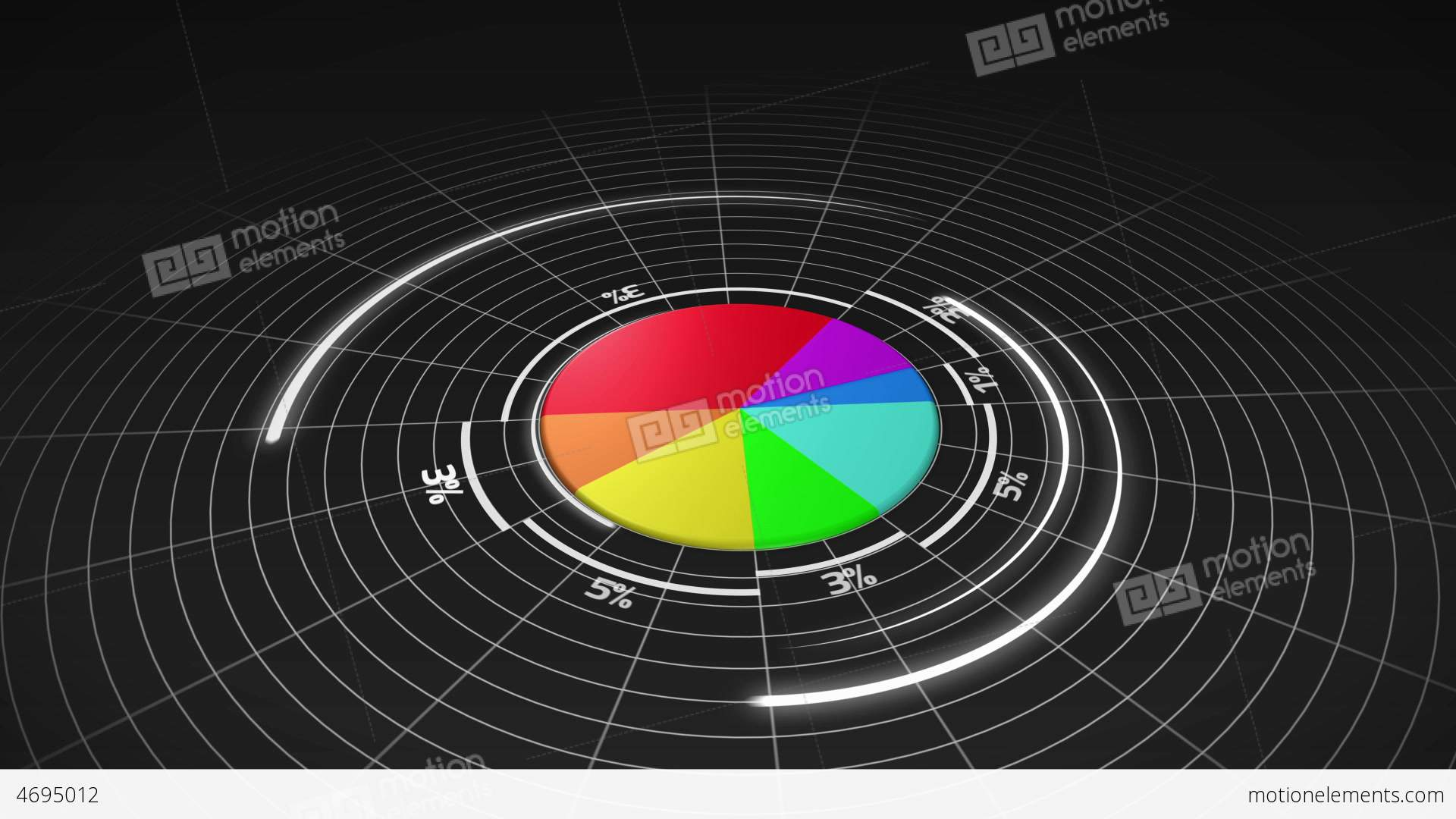 Colourful 3d pie chart stock animation 4695012 colourful 3d pie chart stock video footage nvjuhfo Images