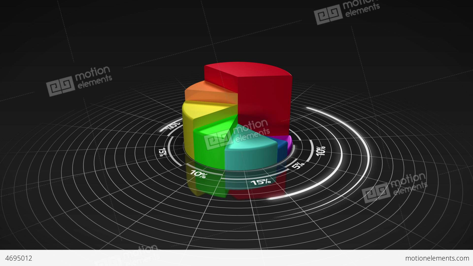 Colourful 3d pie chart stock animation 4695012 colourful 3d pie chart stock video footage nvjuhfo Choice Image