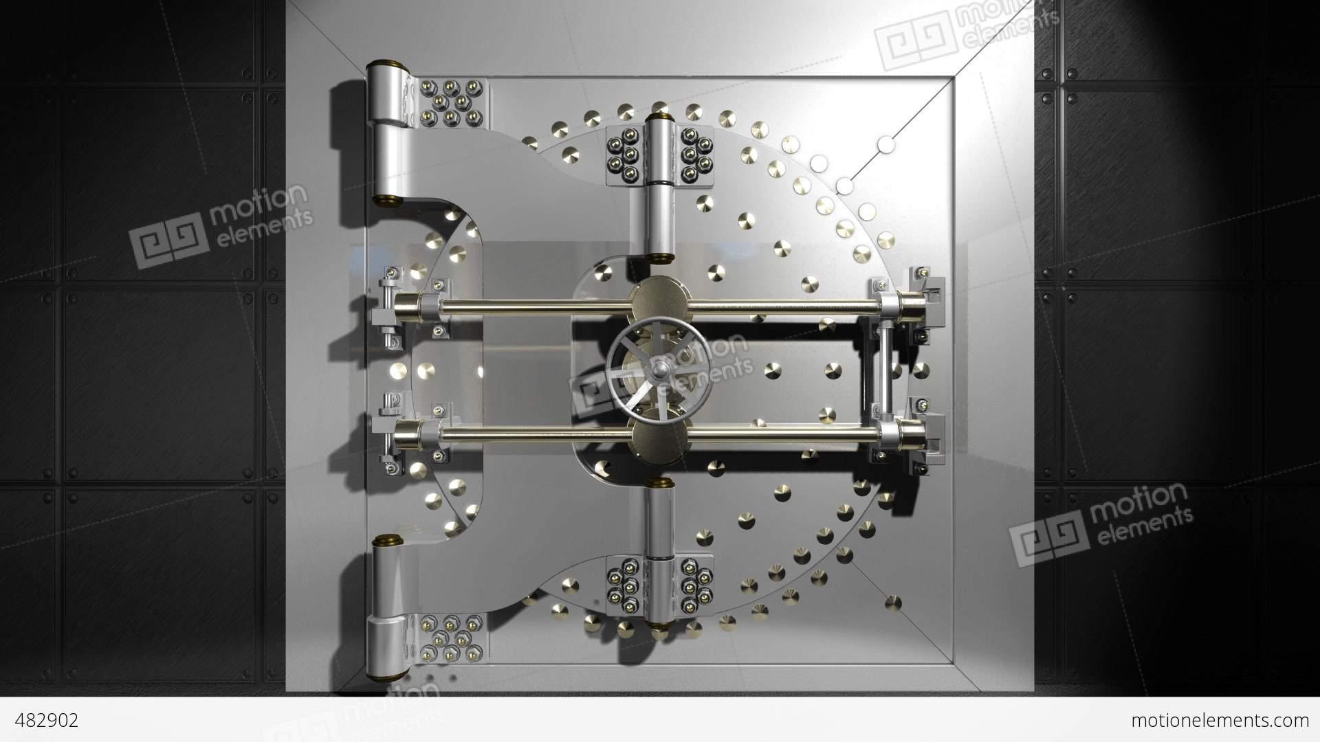 Vault door open Stock Video Footage & Vault Door Open Stock Animation | 482902