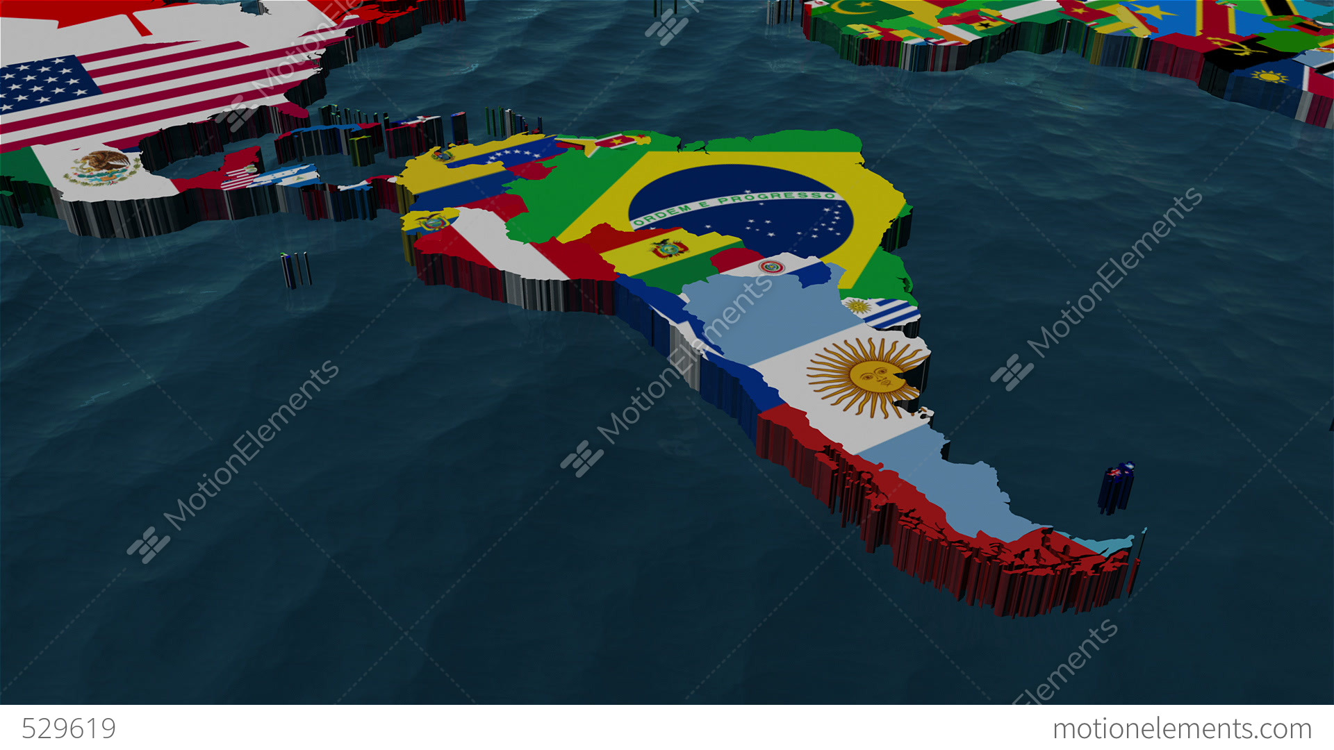 3d world map to south america with clouds stock animation 529619 3d world map to south america with clouds stock video footage gumiabroncs Images