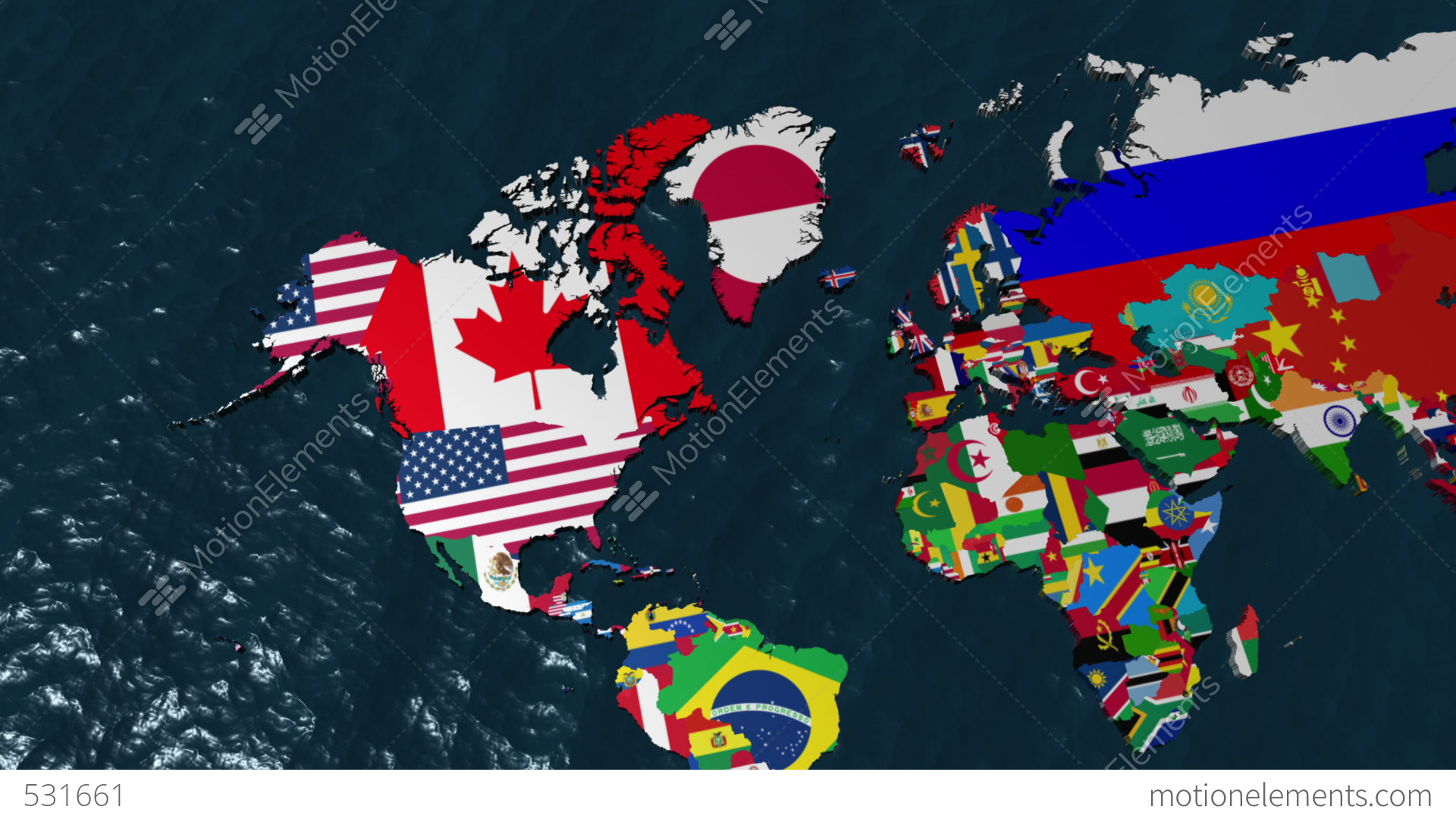 3d wide flag world map zoom to usa animacin 531661 3d wide flag world map zoom to usa videos de stock gumiabroncs Image collections