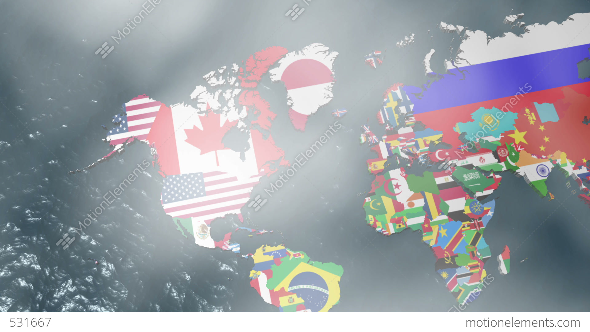 3d flag world map zoom to usa with clouds stock animation 531667 3d flag world map zoom to usa with clouds stock video footage gumiabroncs Choice Image