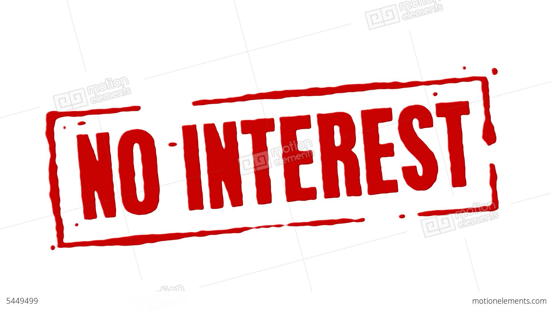 No Interest Red Stamp Transition Stock Animation 5449499