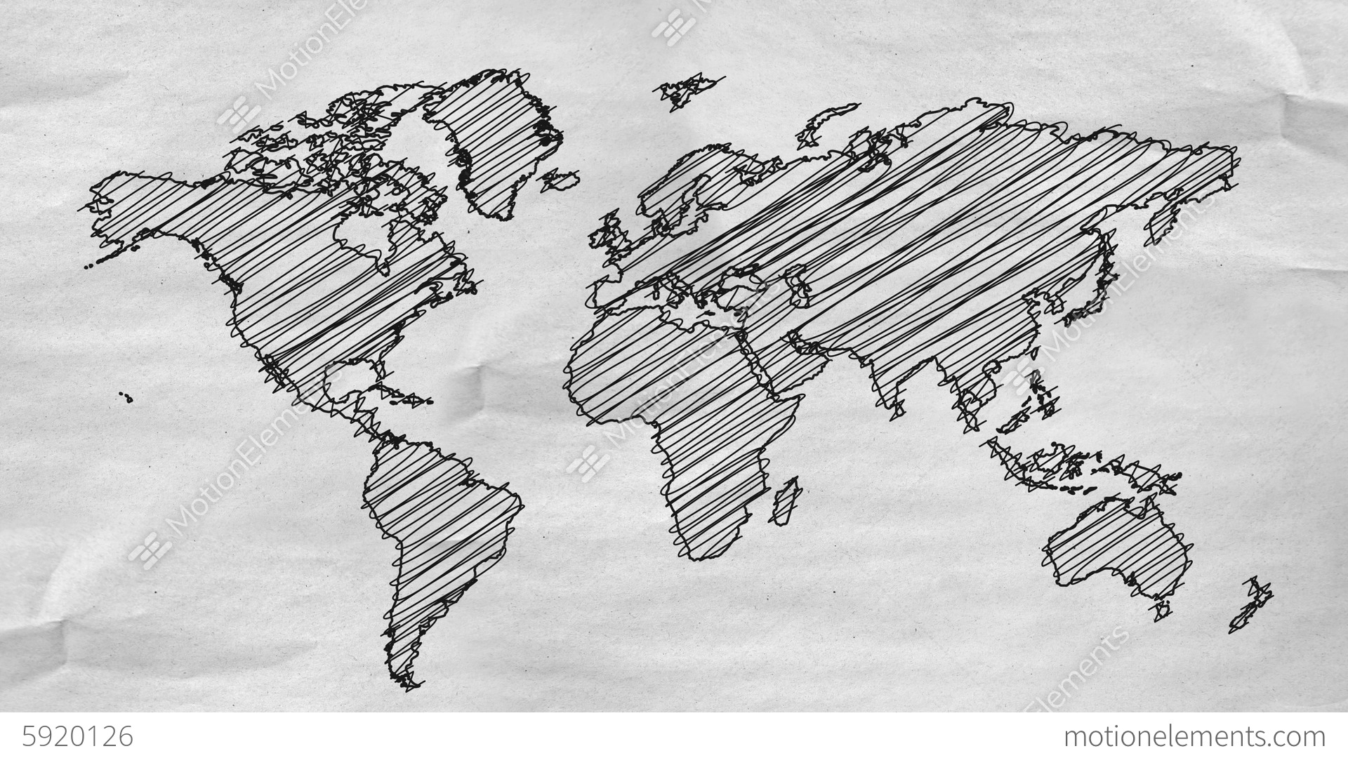 world map drawing alpha channel 4k resolution uh stock