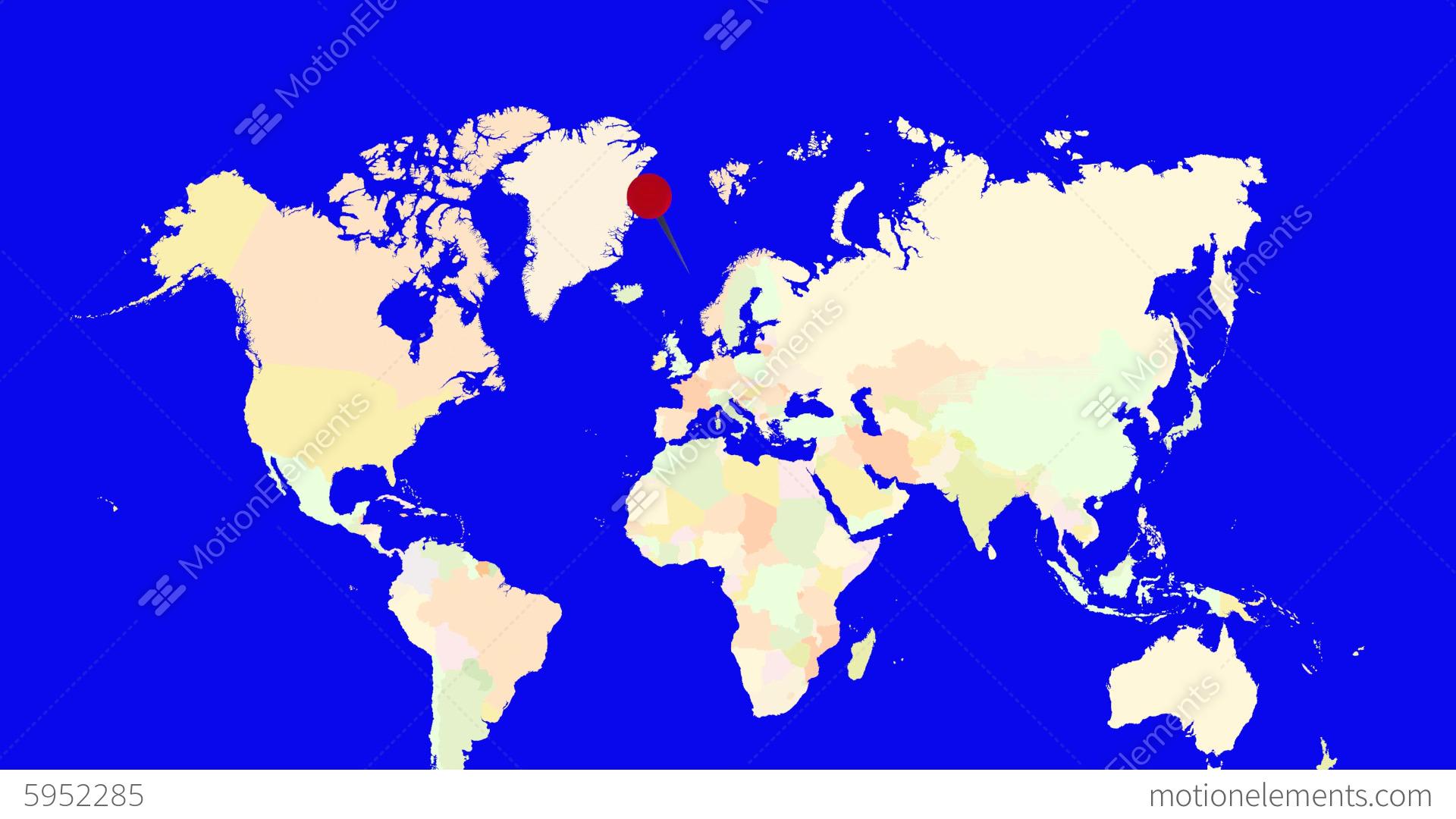 Worldmap Zooms To Norway Stock Animation 5952285