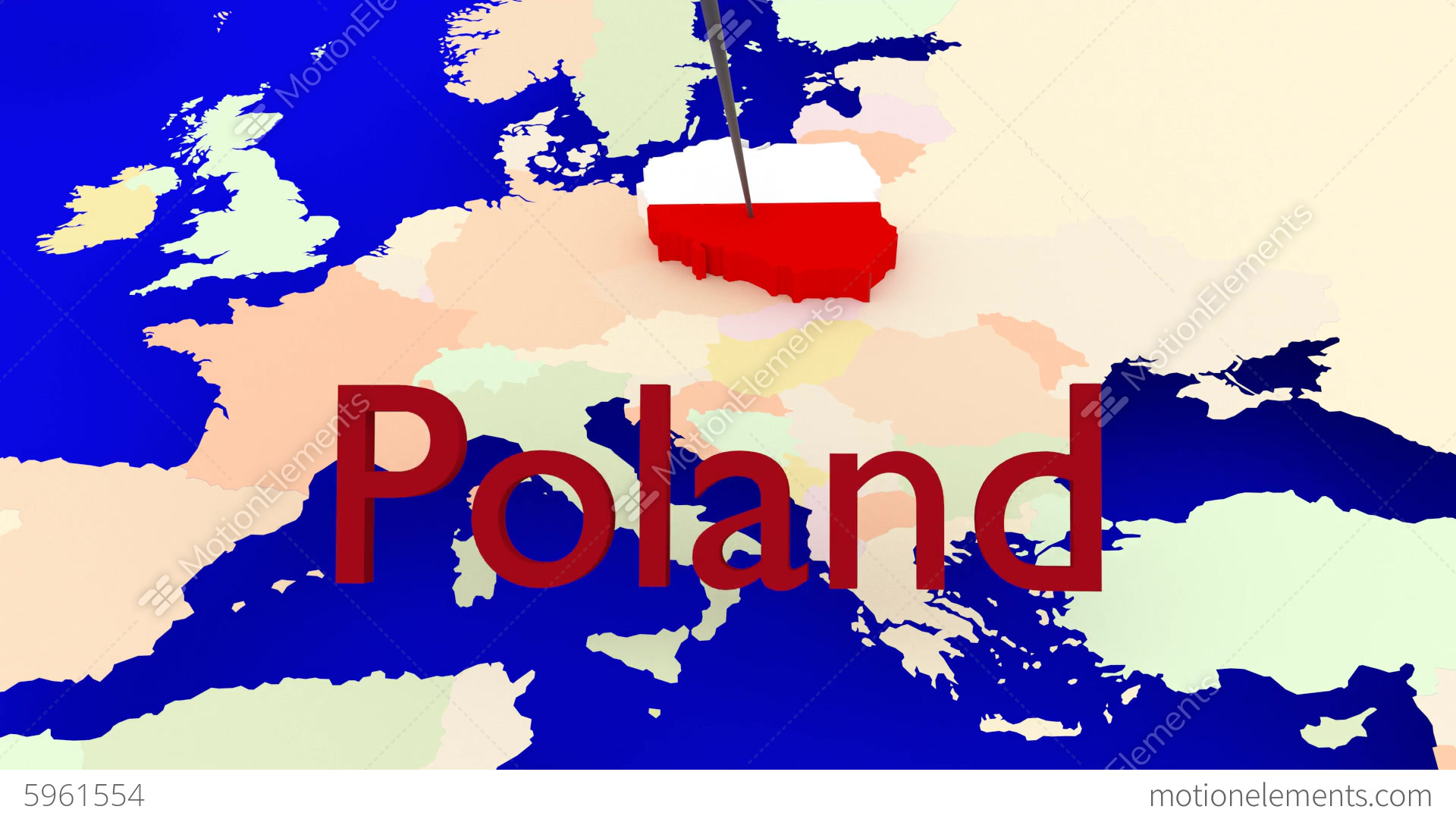 Worldmap Zooms To Poland Stock Animation 5961554
