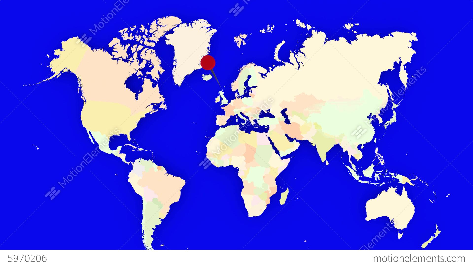 Worldmap Zooms To Belgium Stock Animation | 5970206
