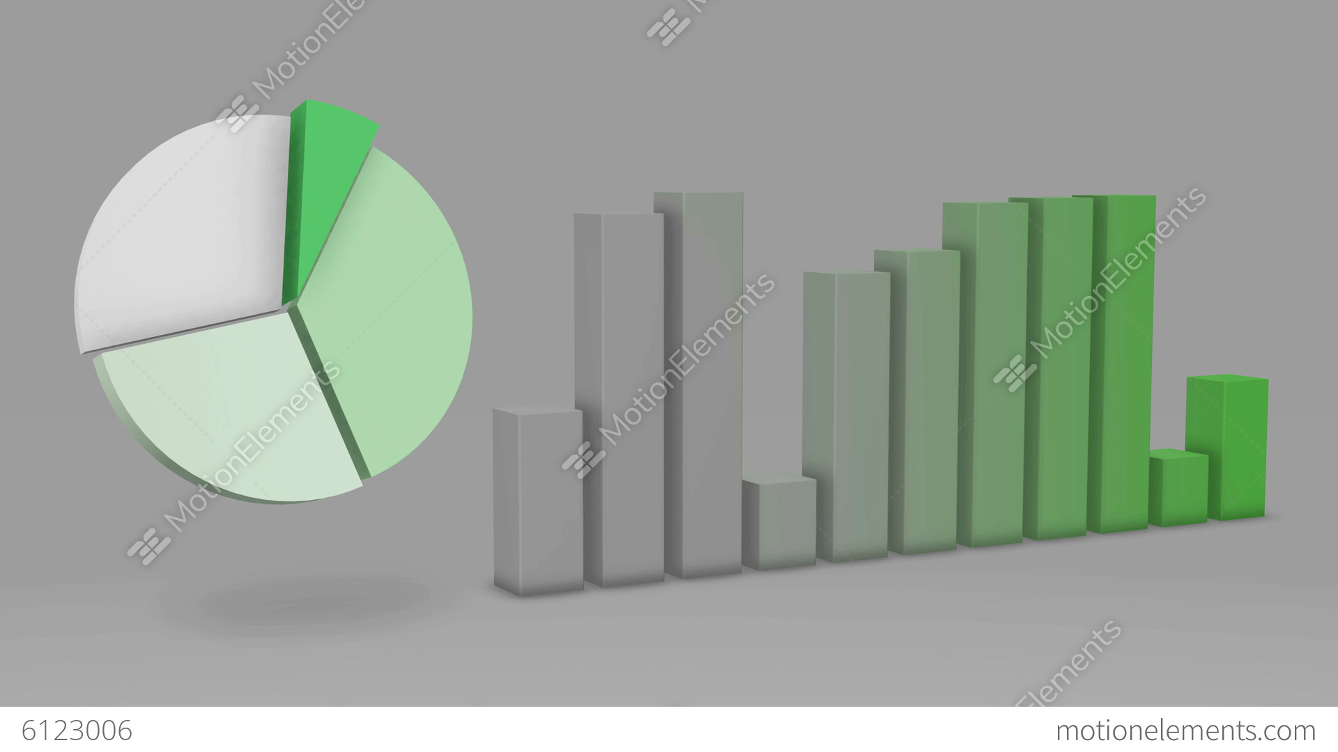 Green pie chart bar statistic 3d loop 4k ultra h stock animation green pie chart bar statistic 3d loop 4k ultra h stock video footage biocorpaavc