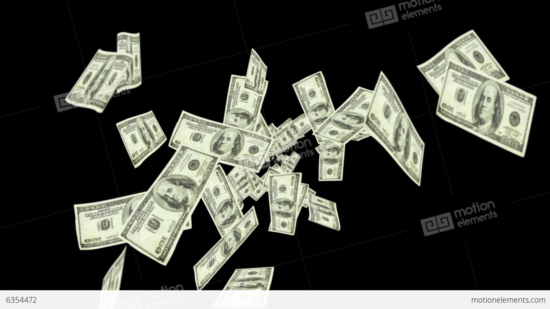 dollar bills falling on - photo #30