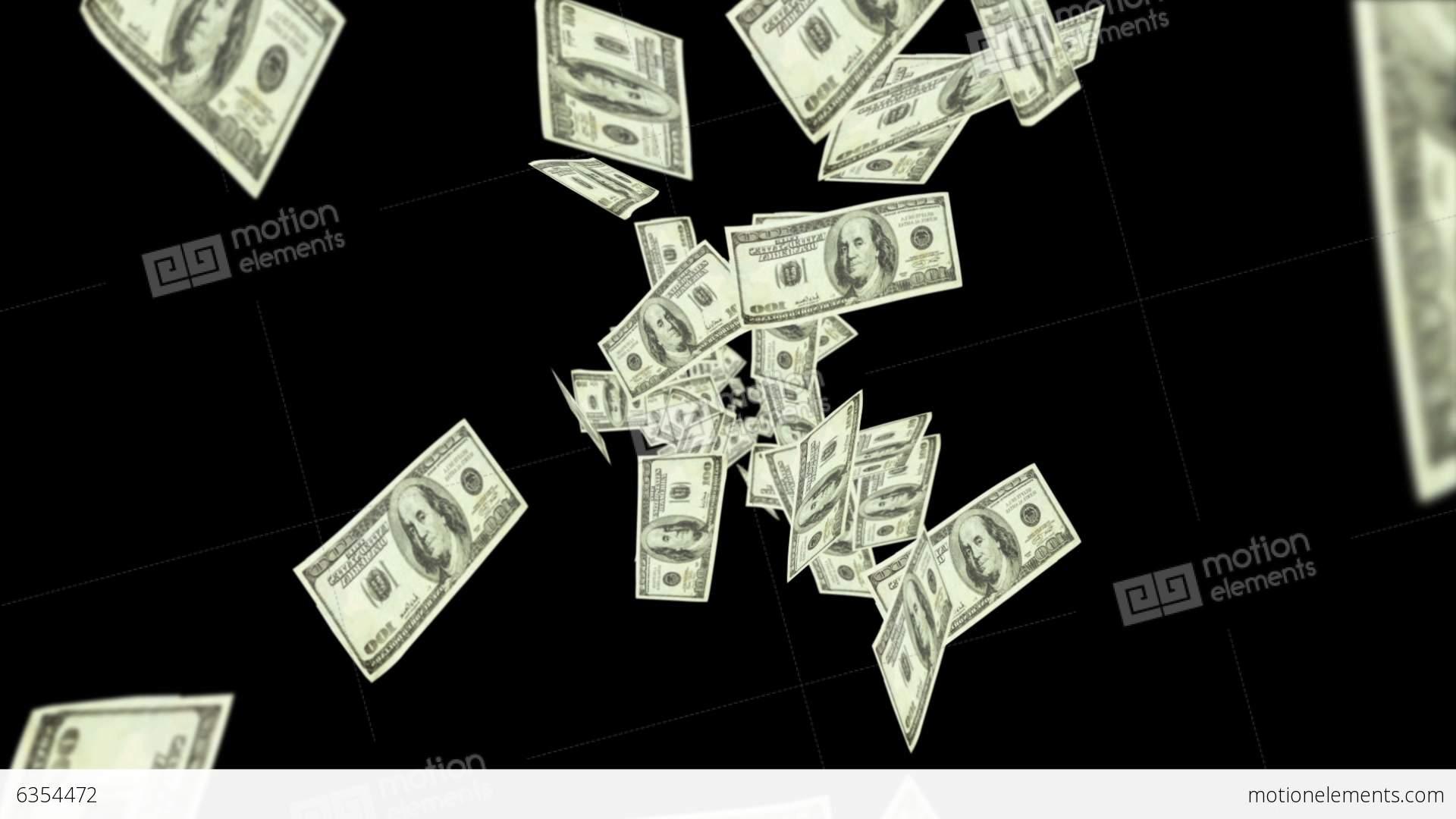 dollar bills falling on - photo #26