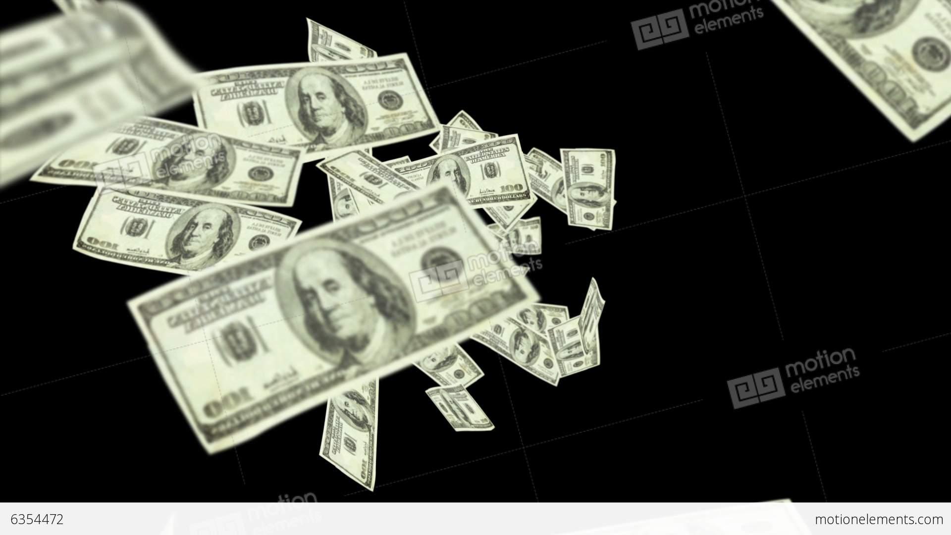 dollar bills falling on - photo #32