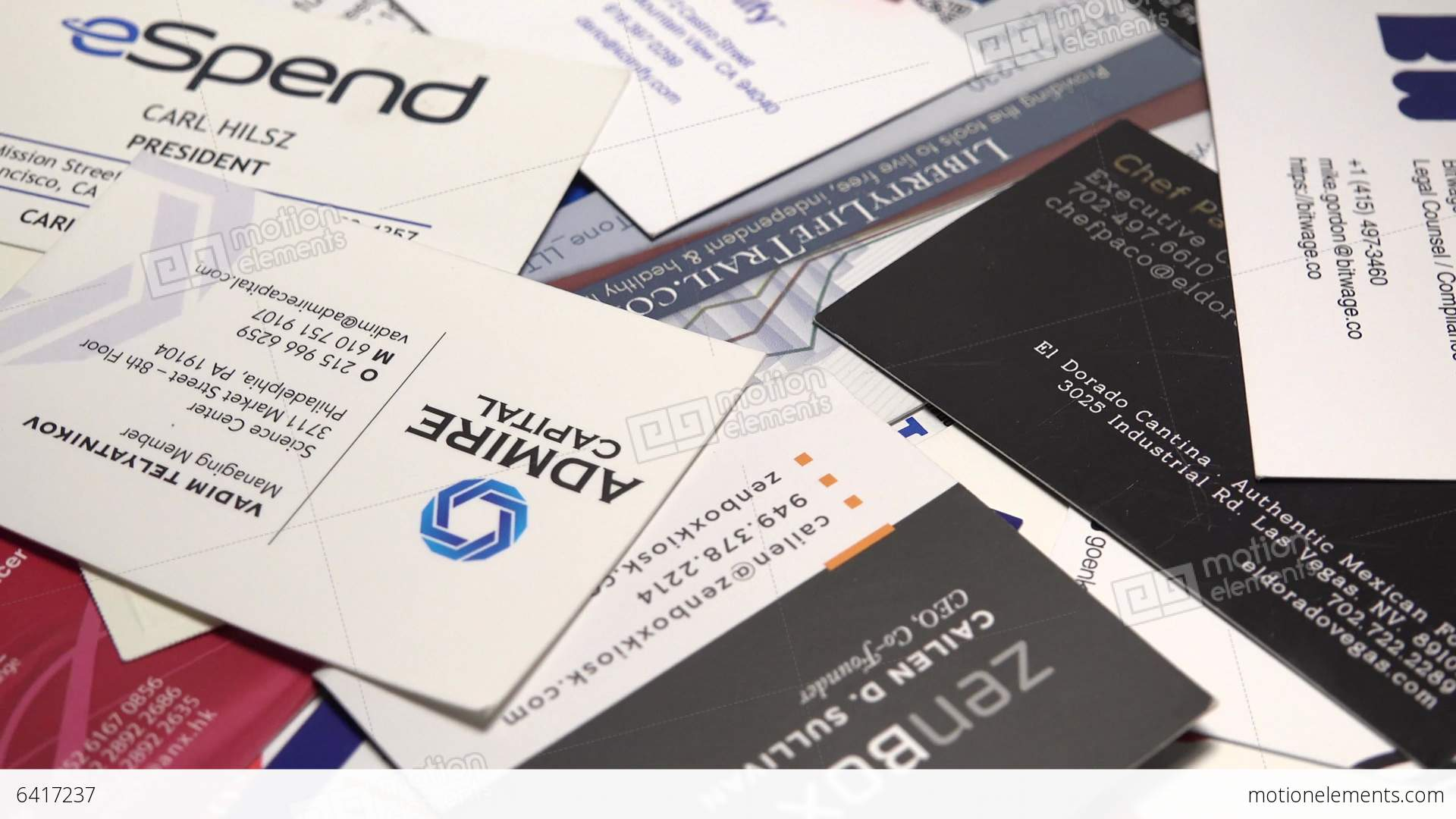 Variety Of Business Cards Stock video footage | 6417237