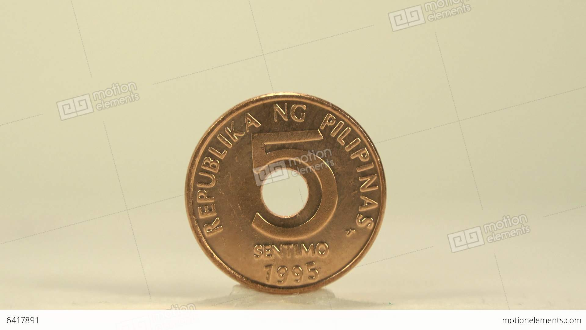 5 Cents Of Philippine Peso Stock Video Footage