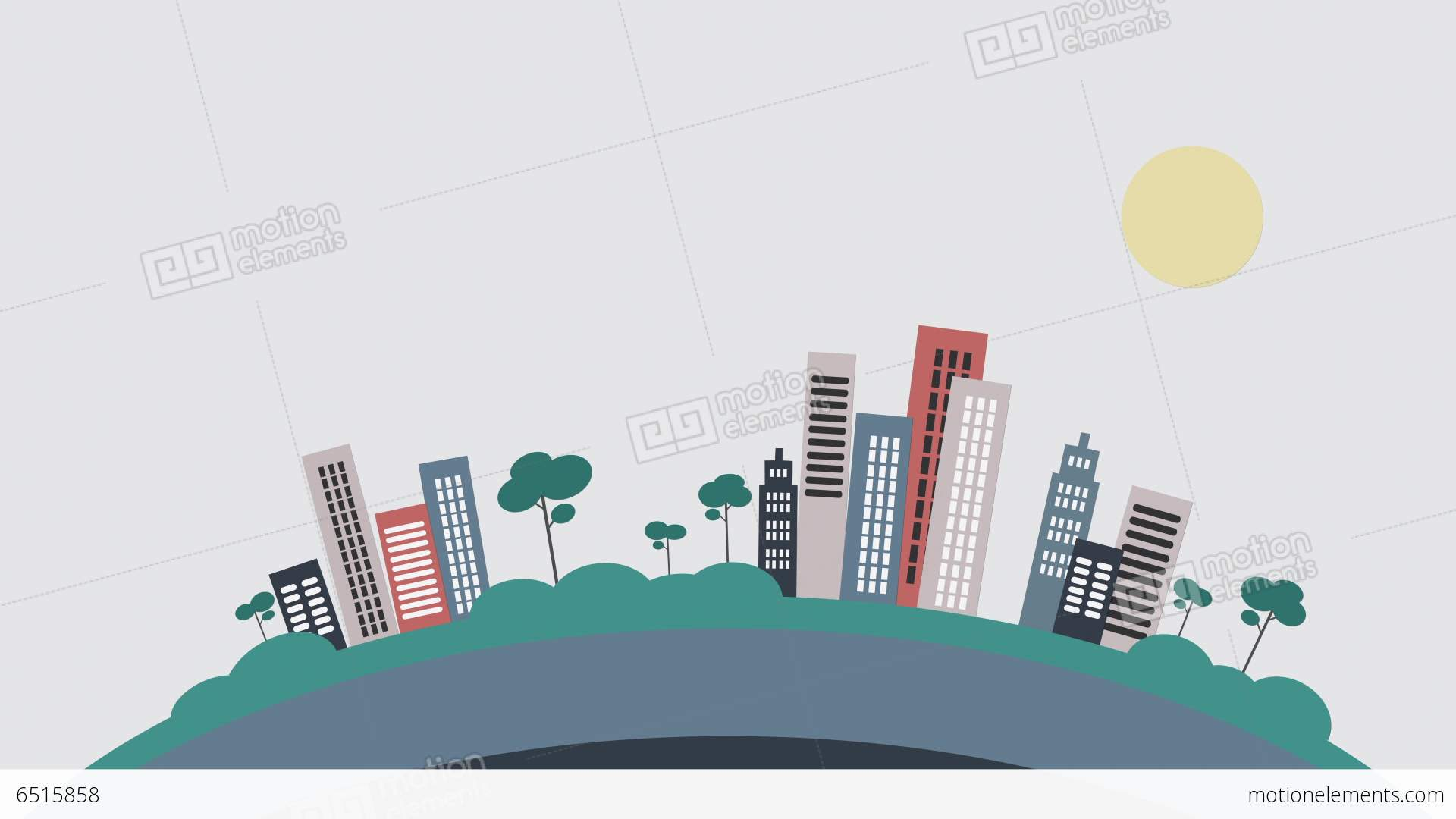 Popping buildings flat design stock animation 6515858 for Flat design pictures