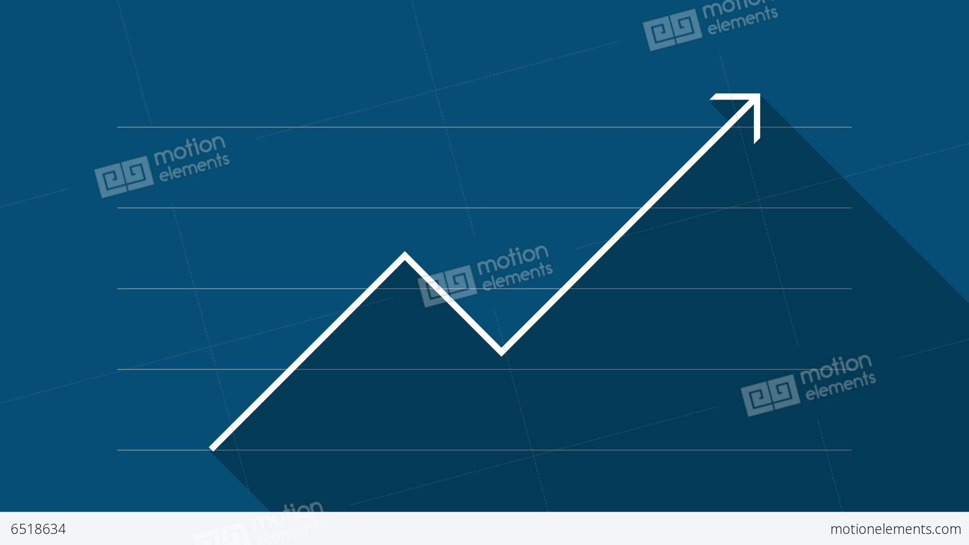 finance graph (blue) - flat design stock animation | 6518634