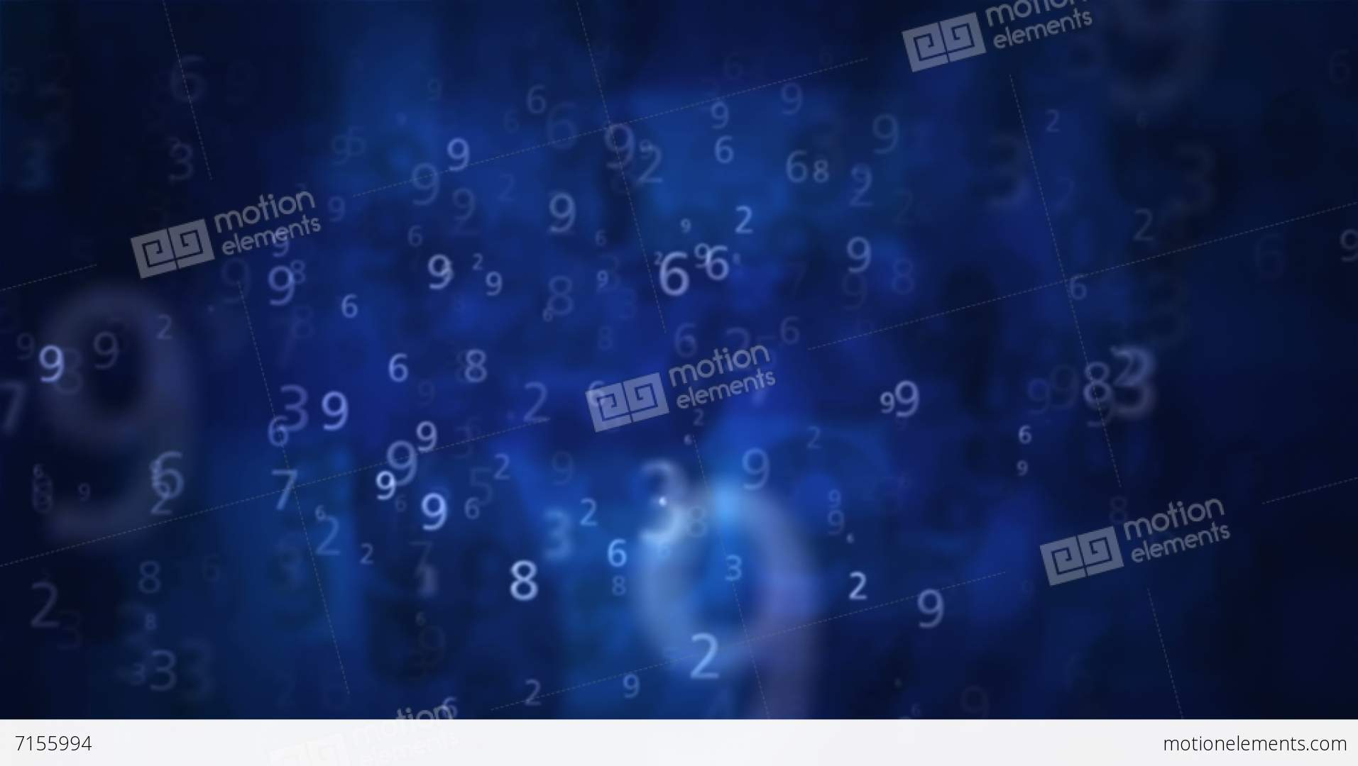 2K Numbers Blue Background 1 Stock Animation | Royalty-Free Stock ...