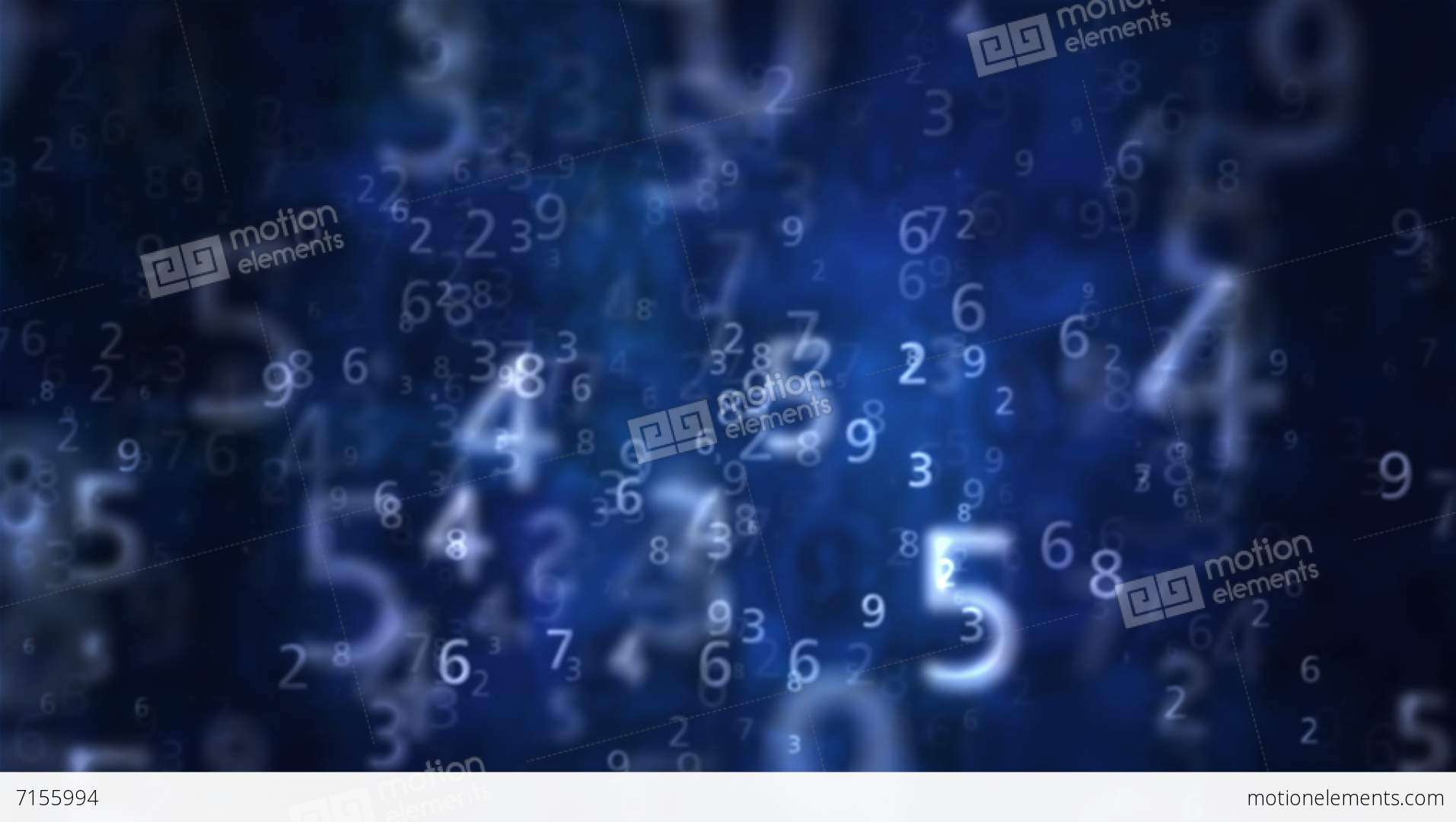 2K Numbers Blue Background 1 Stock Animation   Royalty-Free Stock ...