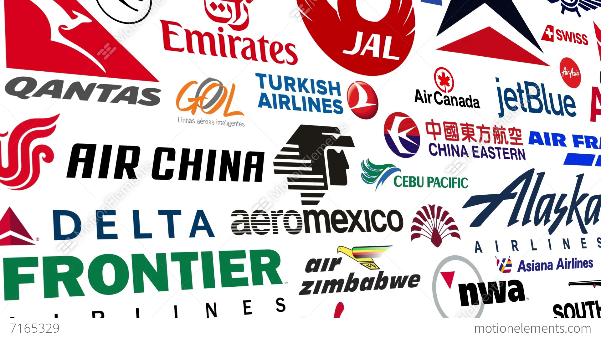 Airline Logo Loop Stock Animation 7165329