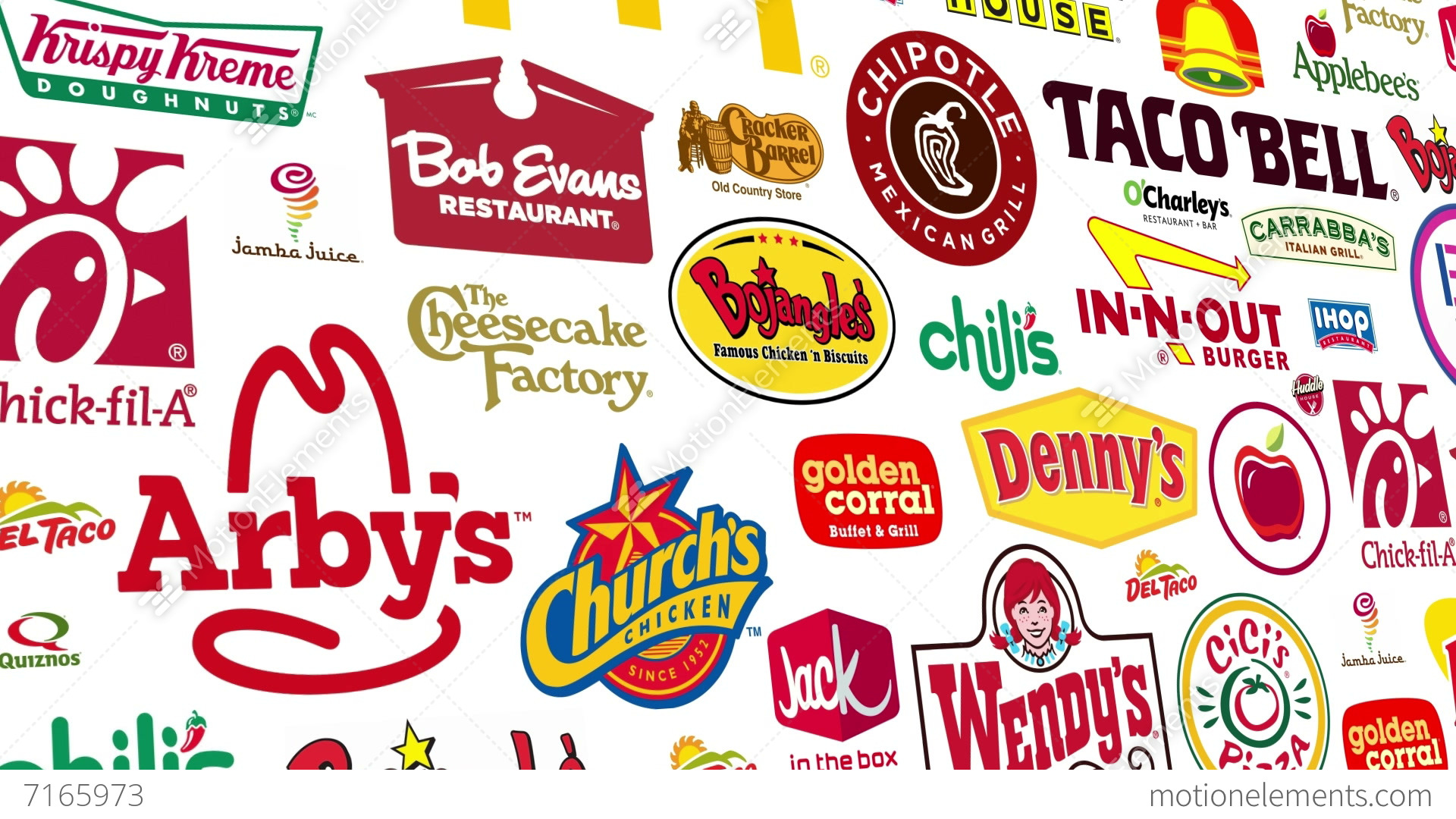 Food Brands Logo Loop Stock Animation | 7165973