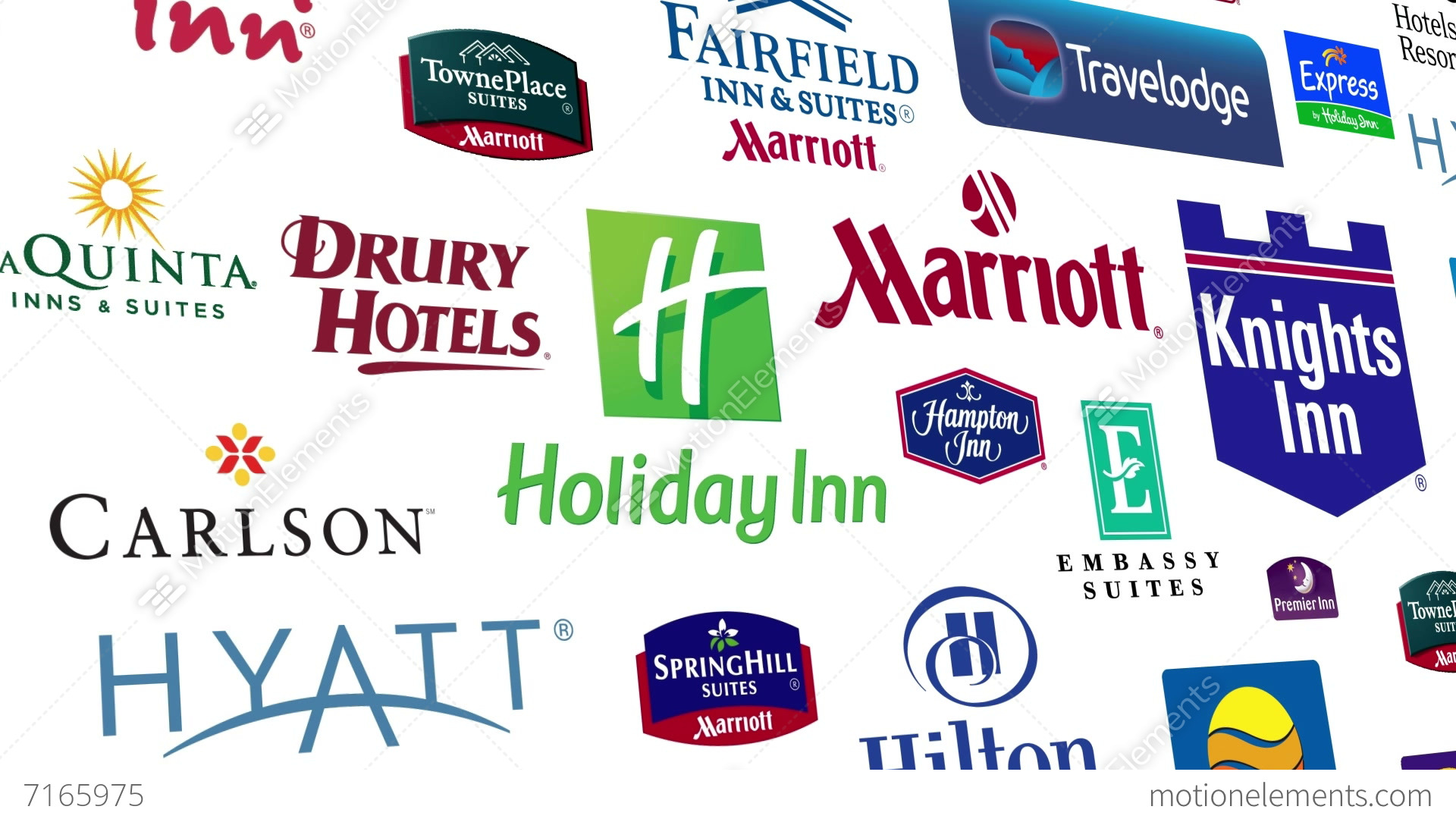 Hotel brands logo loop stock animation 7165975 for International decor brands