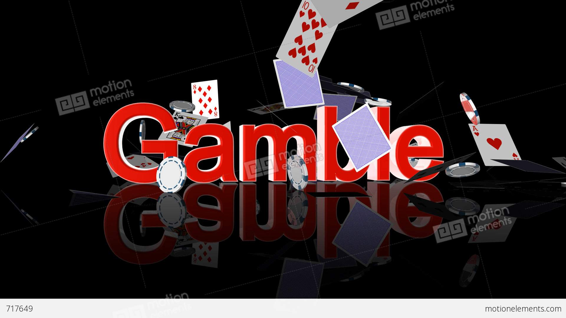 Gamble text with casino chips and cards falling stock for Asino amiatino