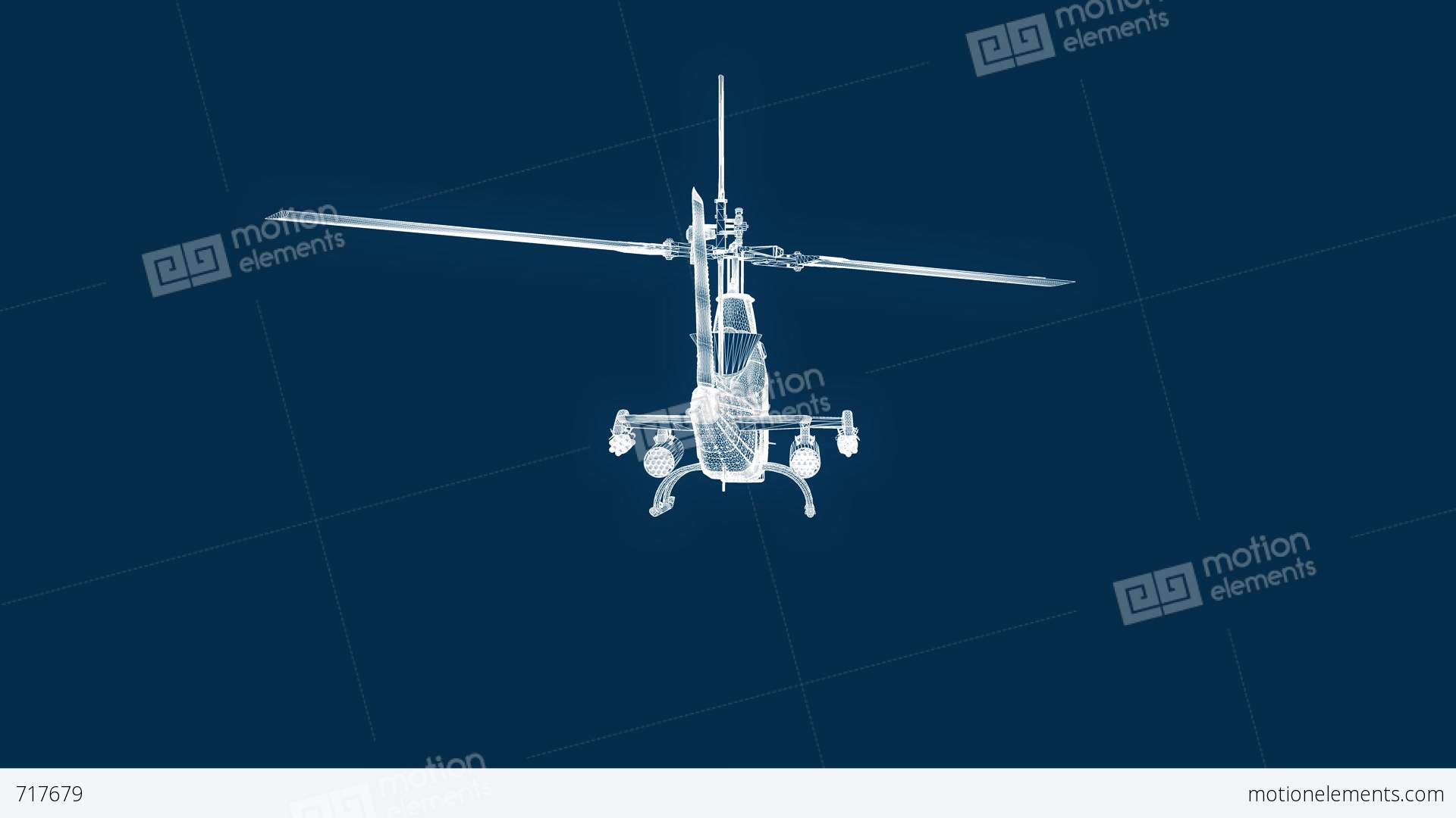Blueprint helicopter seamless loop stock animation 717679 blueprint helicopter seamless loop stock video footage malvernweather Images