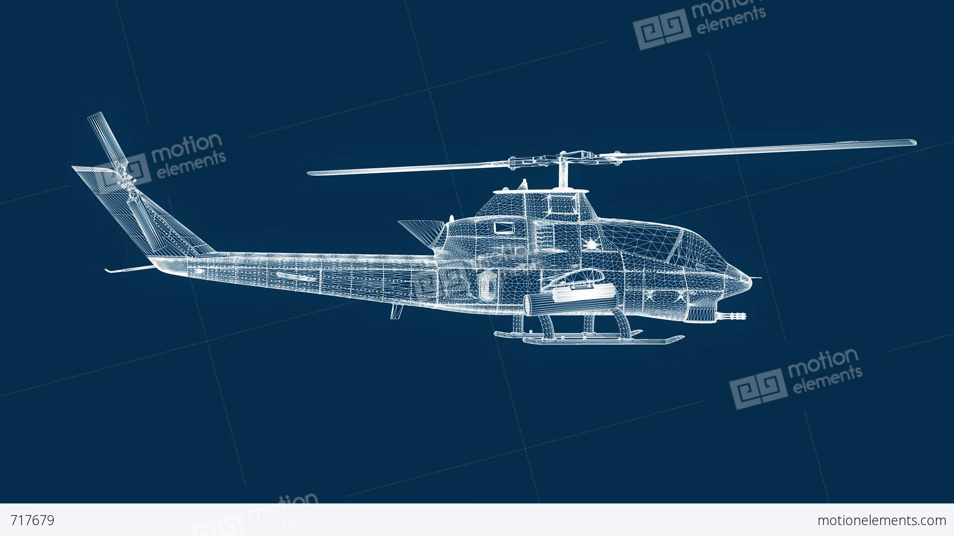 Blueprint helicopter seamless loop stock animation 717679 blueprint helicopter seamless loop stock video footage malvernweather Gallery
