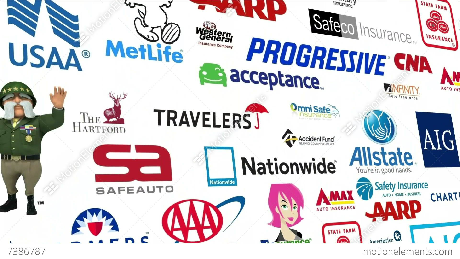 *REVERSE* Auto Insurance Logo Loop Stock Animation | 7386787