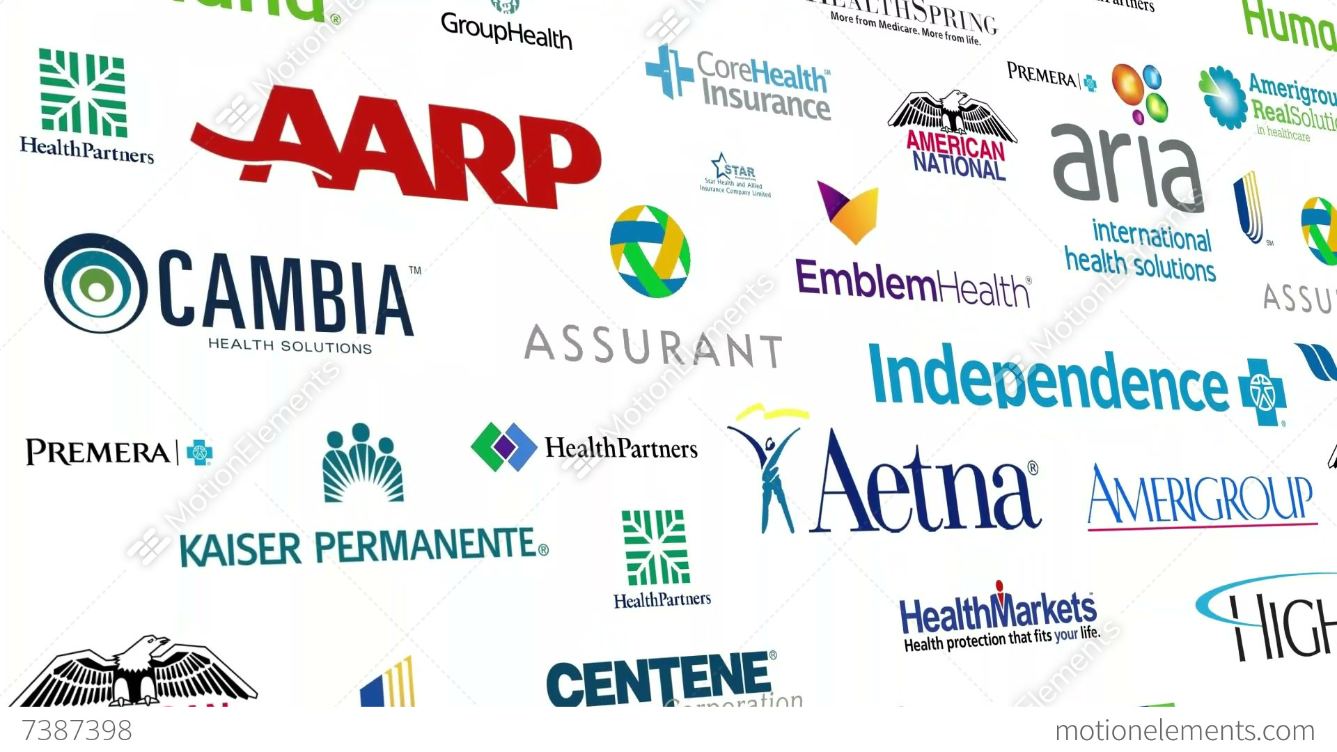 Reverse Health Insurance Logo Loop Stock Animation 7387398