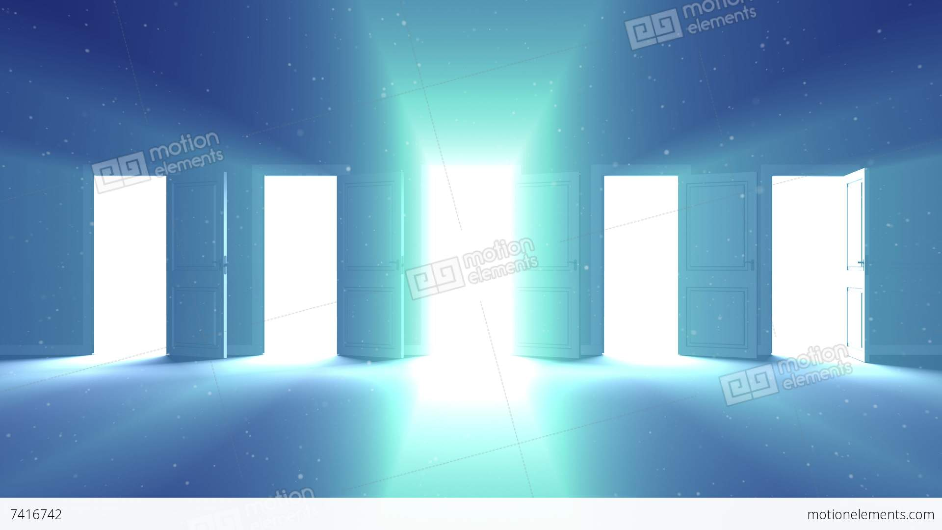 Doors Opening. Concept of true Choice Stock Video Footage & Doors Opening. Concept Of True Choice Stock Animation | 7416742