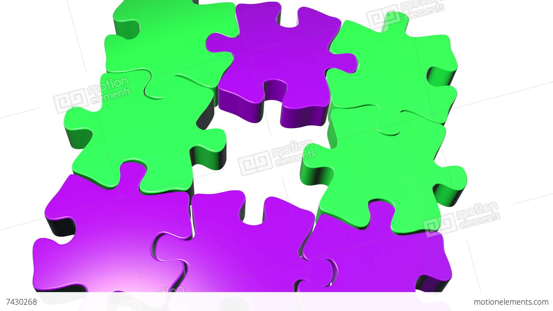 Moving Puzzle Pieces Stock Animation | 7430268