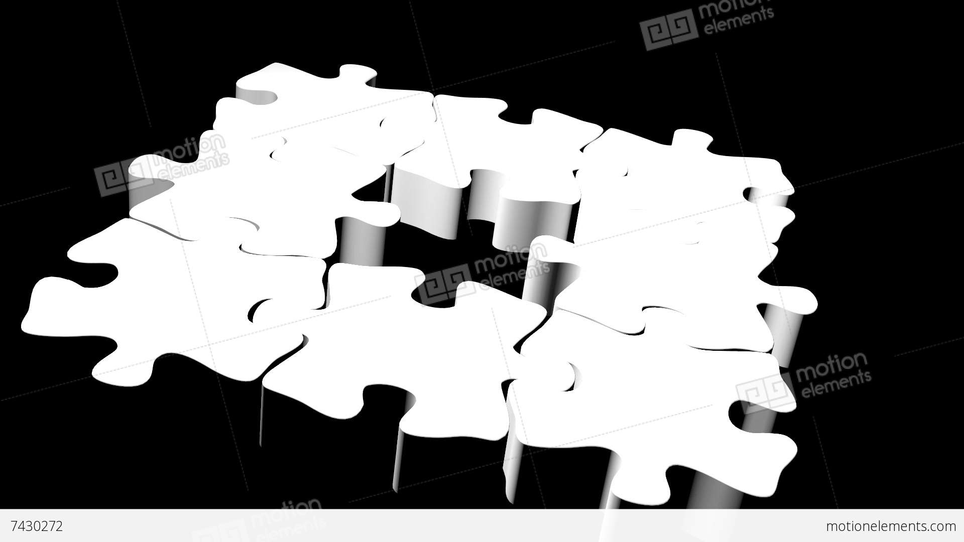 Puzzle Pieces Animation Stock Animation | 7430272