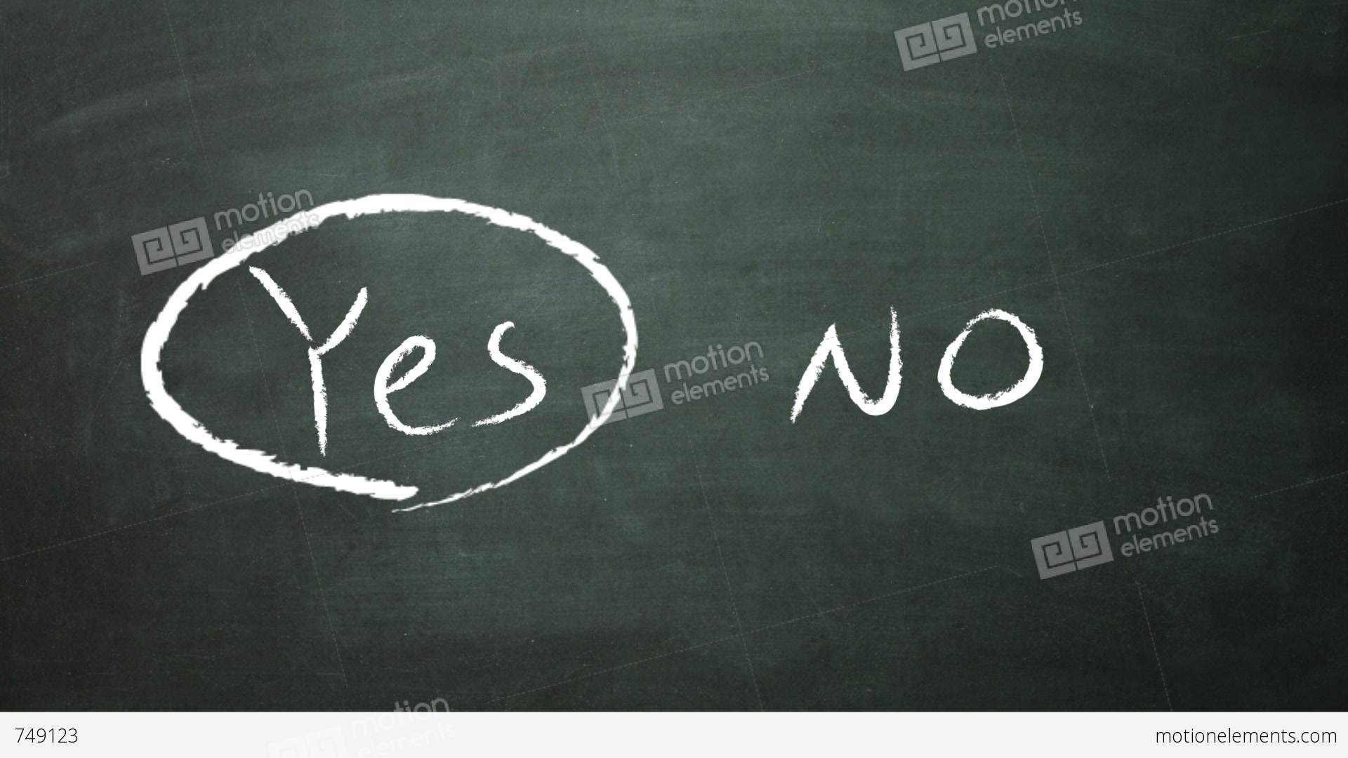 yes no selection Stock Video Footage