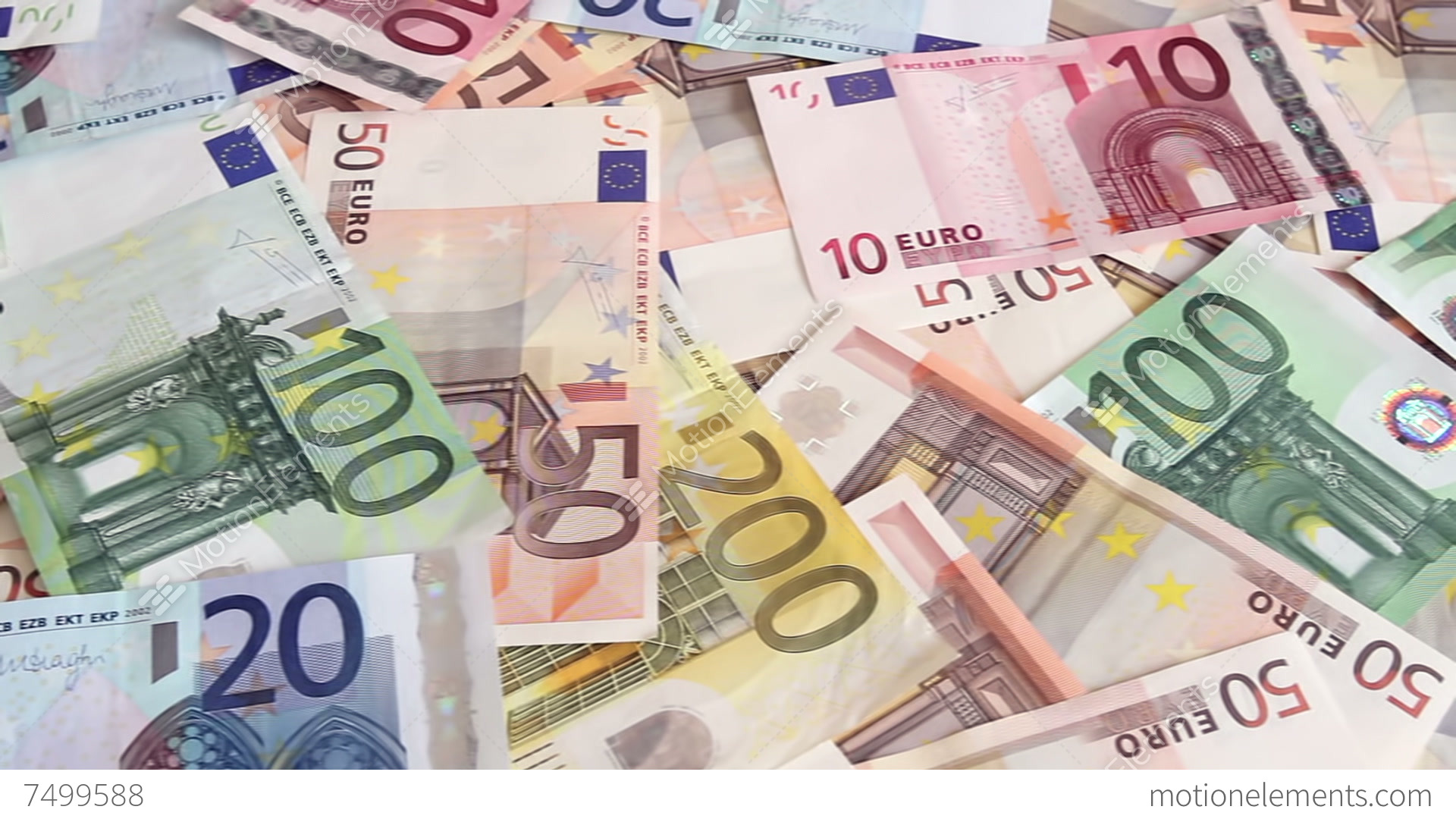 Euro Money Background Stock Video Footage 7499588