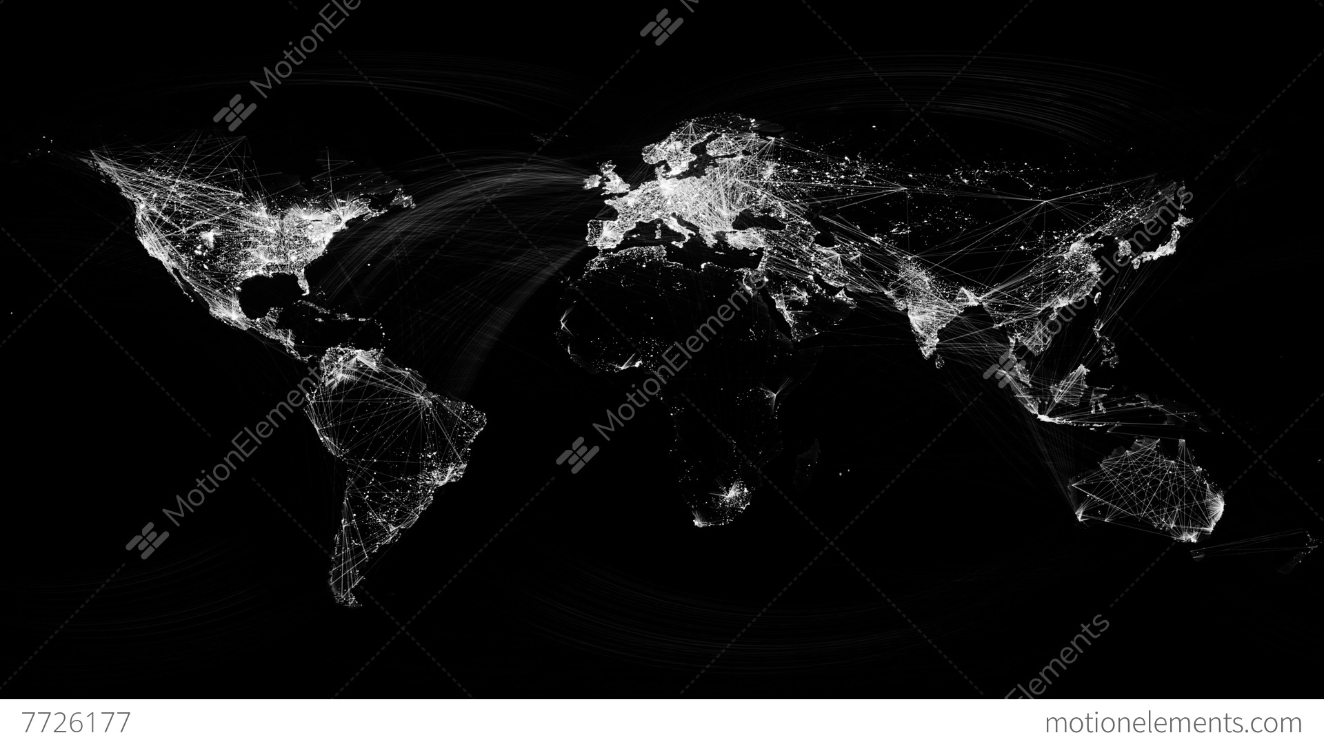 Network lines lighting up world map 4k black and white version network lines lighting up world map 4k black and white stock video gumiabroncs