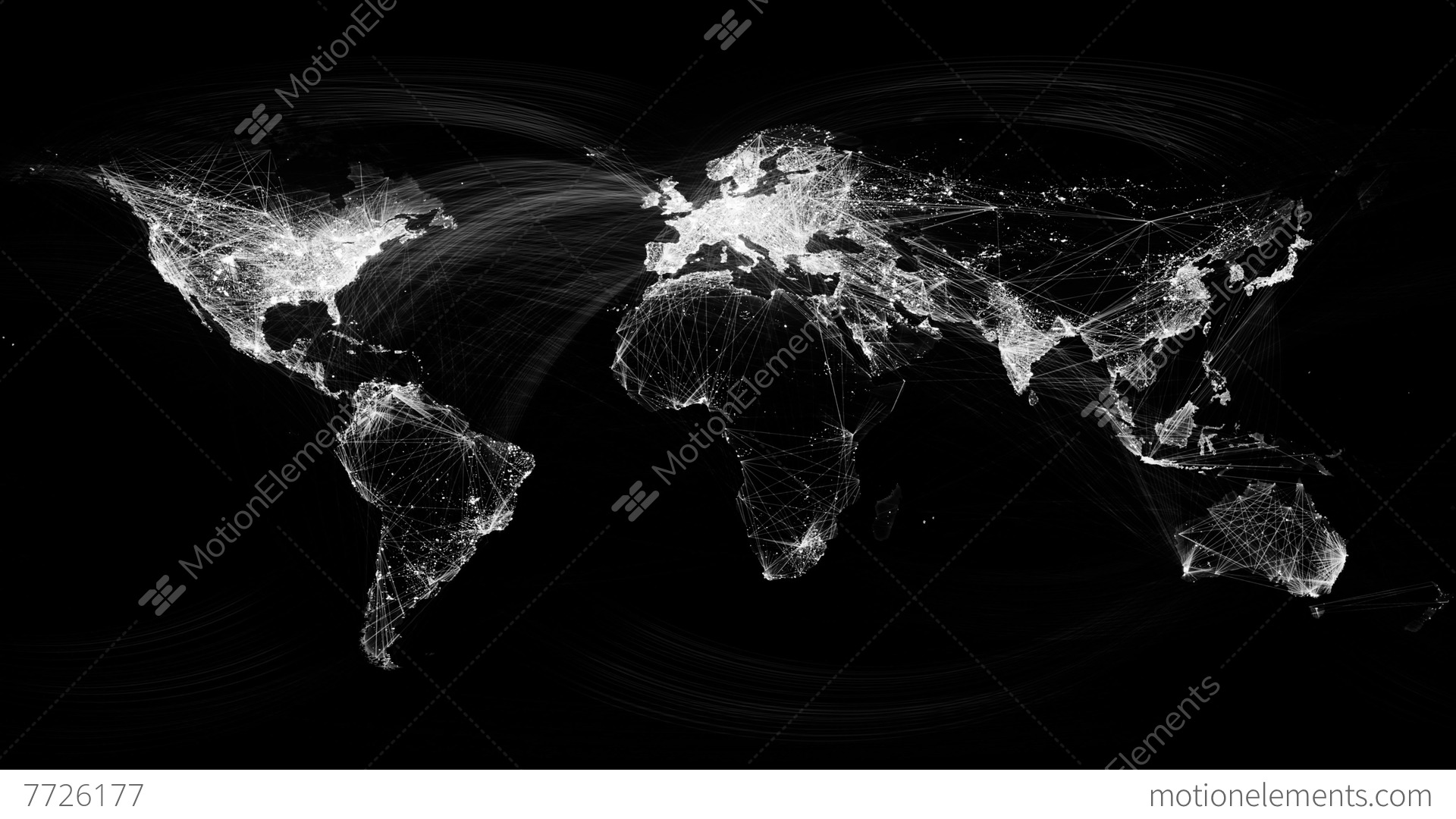 Network lines lighting up world map 4k black and white version network lines lighting up world map 4k black and white stock video gumiabroncs Choice Image