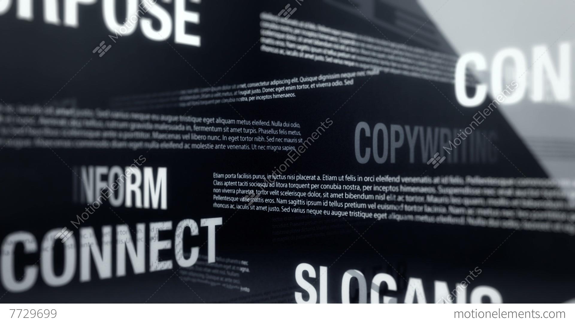 Copywriting terms