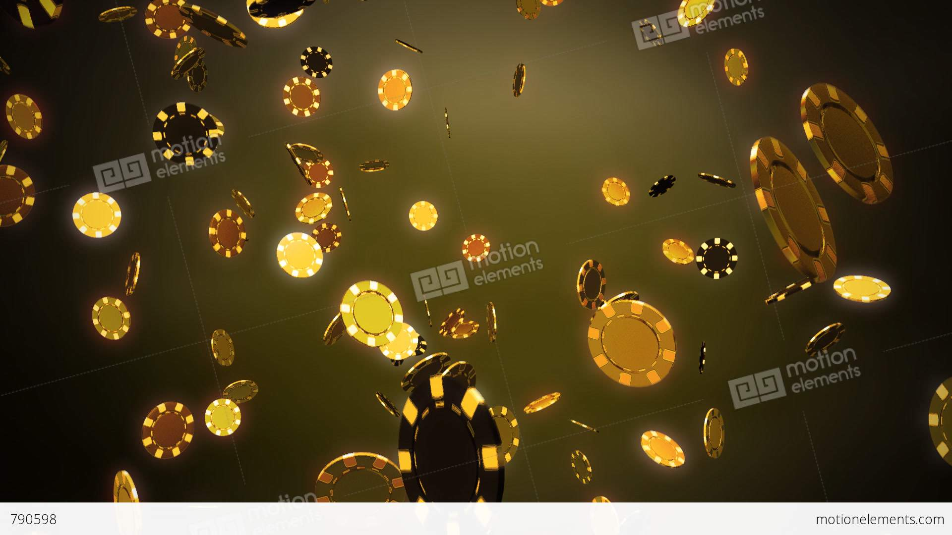 Casino chips dropping gold stock animation 790598 for Asino amiatino