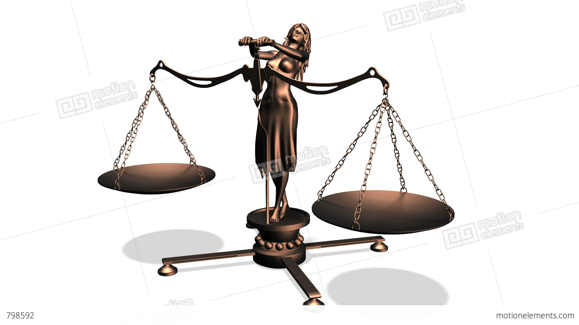 天秤 Lady Justice Stock Animation   798592