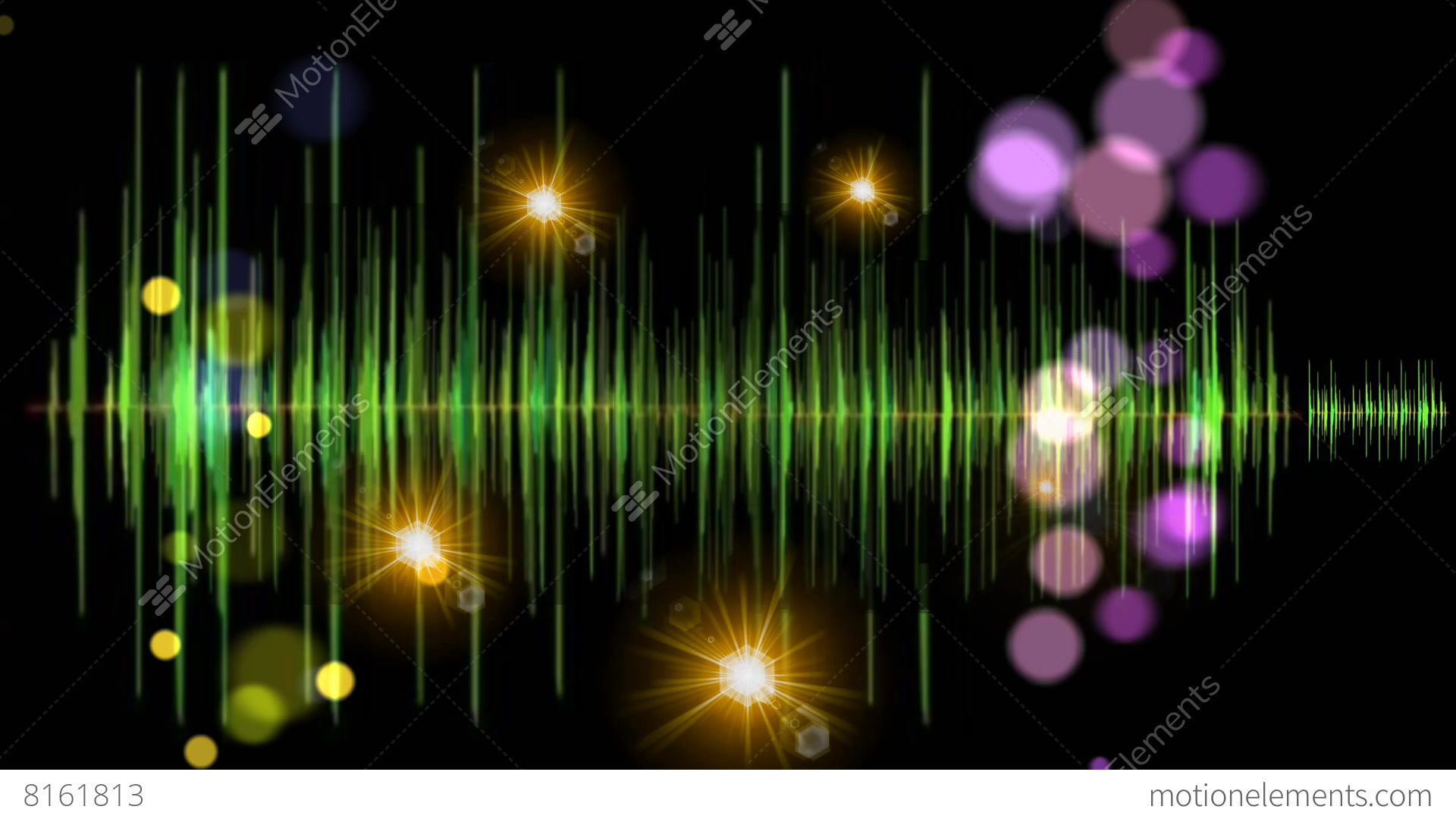 Green Light Effects Stock Footage Video: Music Background Light Graphic Motion Visual Effect Stock