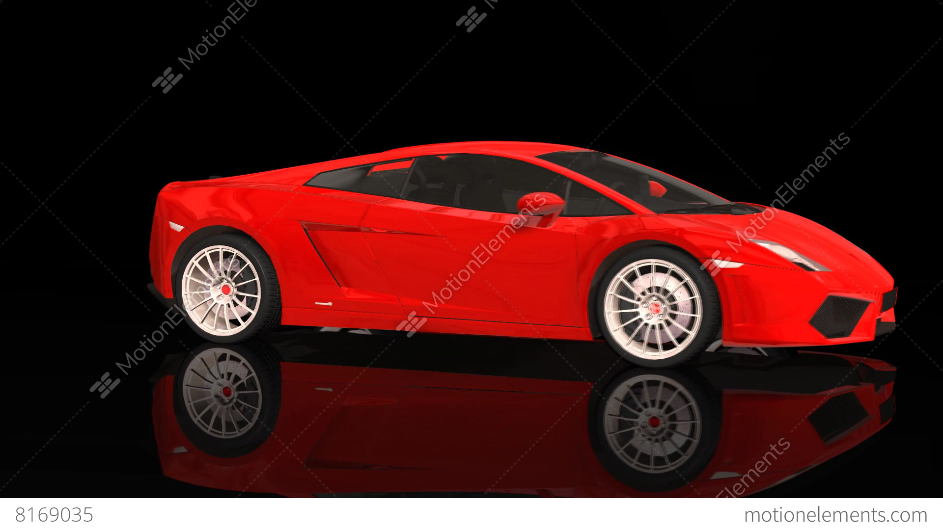 Luxury Sport Car Lamborghini Red Color Moving Rotation Stock Video