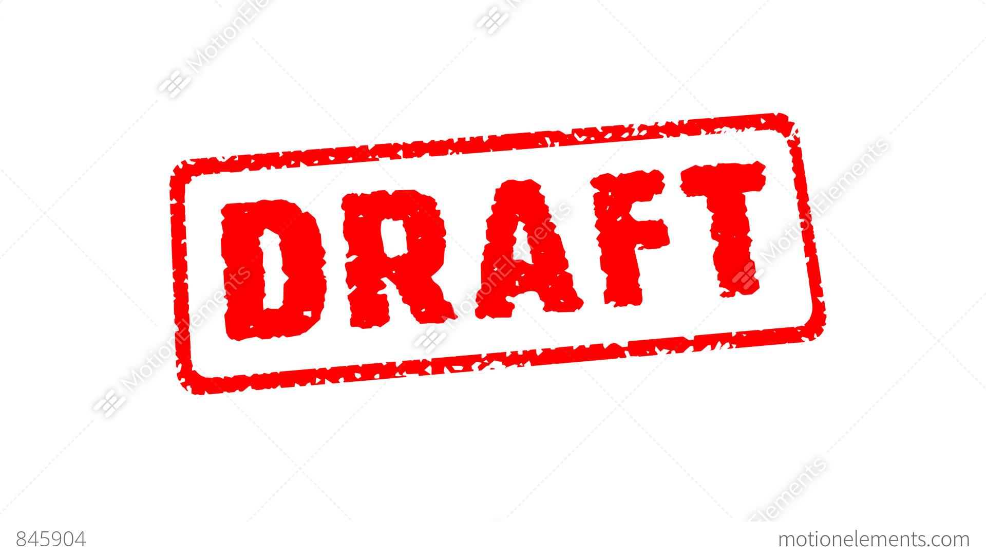 Stamp Draft Stock Animation 845904
