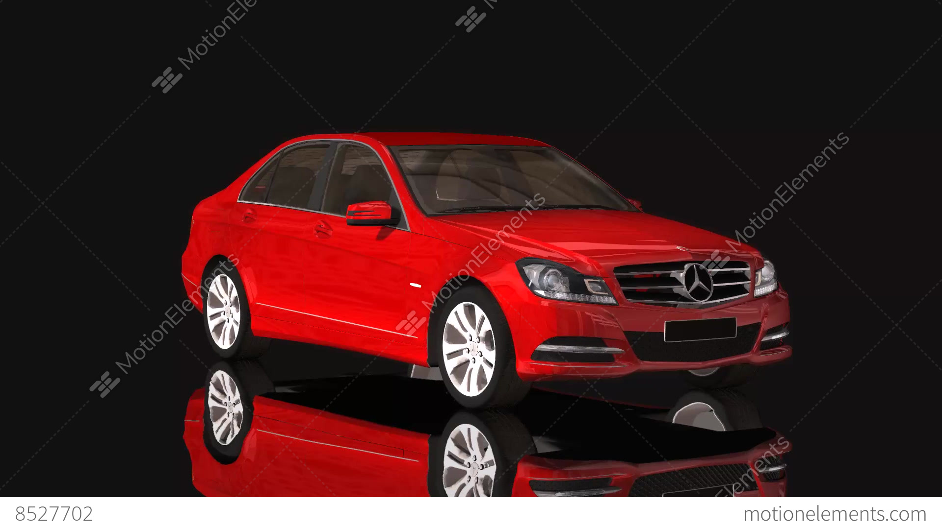 Car Mercedes Benz Moving Rotation Red Color Stock Video Footage