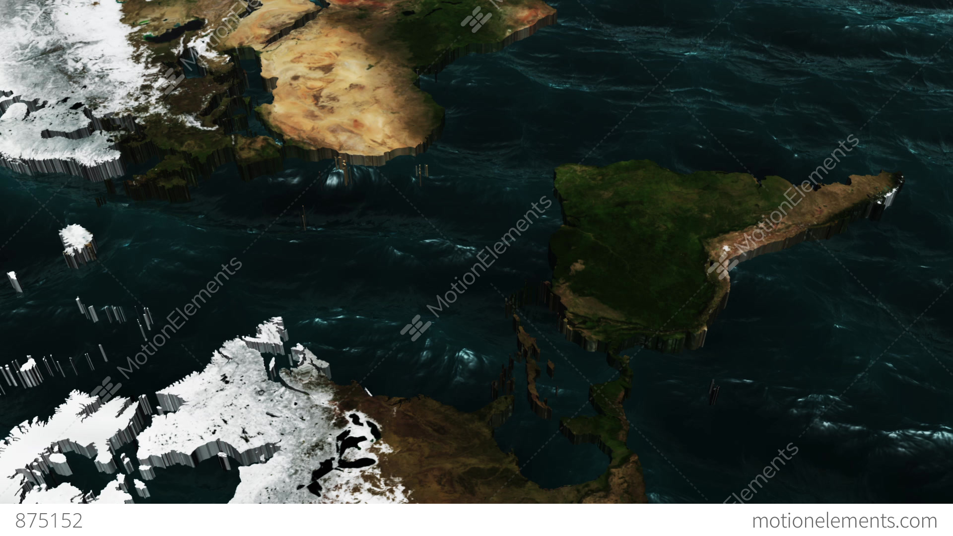 3d world map pan to south america stock animation 875152 3d world map pan to south america stock video footage gumiabroncs Images